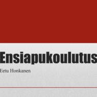 Ensiapukoulutus Eetu Honkanen
